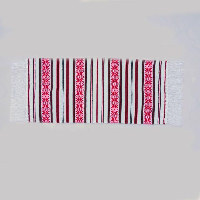 Artizanat alb-rosu-negru 75x36